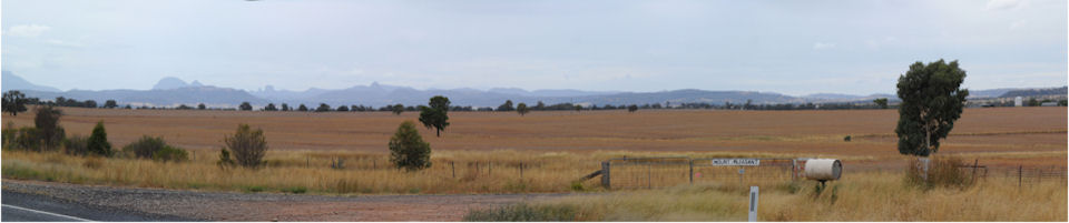 Looking in to the Warrumbungles from the southwest, 2011