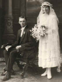 JW (Don) Prior and Olive Masterman's Wedding Photo