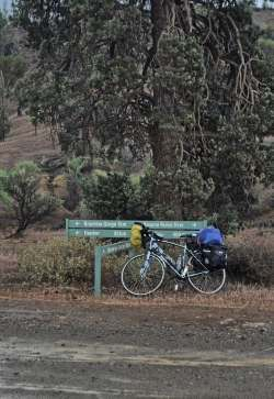 The bike in Brachina Gorge, November 2014