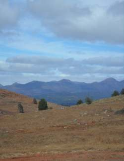 Looking South  in the Flinders Range near Huck's Lookout north of Wilpena