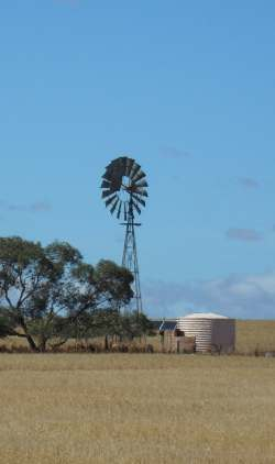 The old and the new. Windmill north of Melrose SA Nov 2015