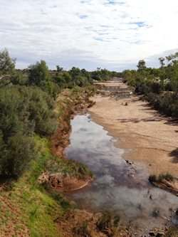 A picture of the Finke River